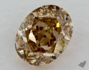 oval0.75 Carat fancy yellowVS2