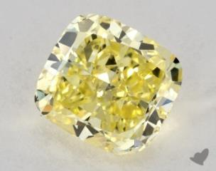 cushion1.01 Carat fancy intense yellowSI1