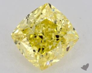 cushion0.90 Carat  yellowVVS2