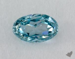 oval0.12 Carat  blue