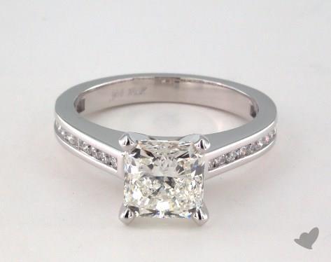 18K White Gold  Channel Set Engagement Ring