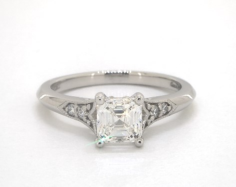 Platinum  Channel Set Engagement Ring