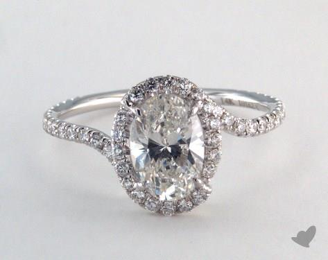 14K White Gold  James Allen exclusive Engagement Ring
